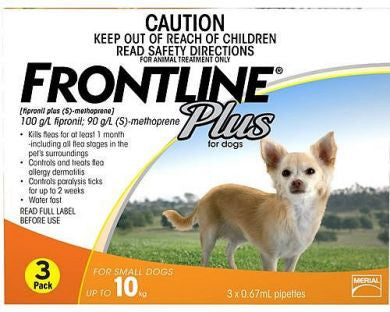 Frontline Plus Dog - Frontline Plus Small Dog (Orange) 0-10Kg