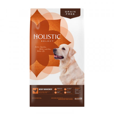 Holistic Select Dog - GRAIN FREE Weight Management Chicken Meal & Peas Recipe