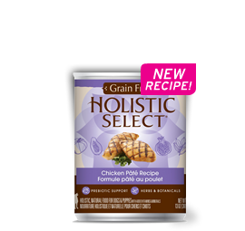 Holistic Select Dog - GRAIN FREE Chicken Pate Recipe
