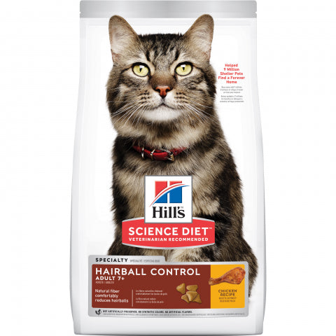 Science Diet  Cat - Hairball Control, Senior 7 + years