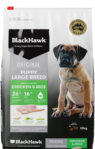 BlackHawk Dog - Puppy Chicken & Rice Large Breed