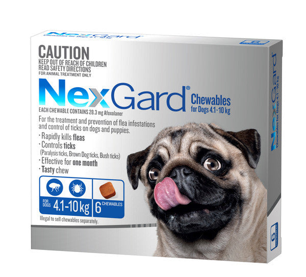 Nexgard Dog - Nexgard Chews Medium Dogs 4-10kg (BLUE)