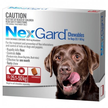 Nexgard Dog - Nexgard Chews Extra Large Dogs 25-50kg (RED)