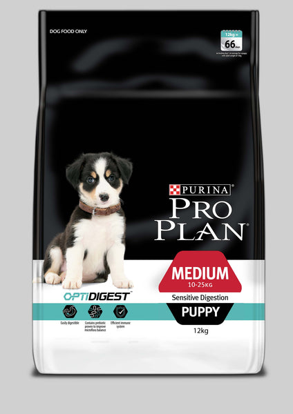 Proplan Dog - Sensitive Digestion with OPTIDIGEST Medium Breed Puppy