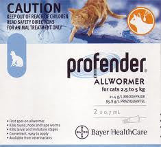 Profender Cat Allwormer Medium (Blue) 2 pack
