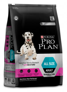 Proplan Dog - Sensitive Skin & Stomach with OPTIRESTORE  All Size Adult
