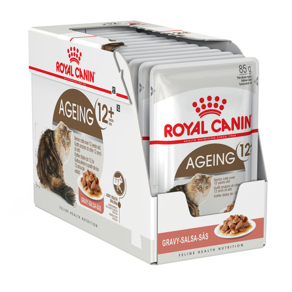 Royal Canin Cat - Royal Canin AGEING +12 IN GRAVY (pouches)
