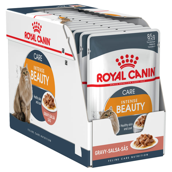 Royal Canin Cat - Royal Canin INTENSE BEAUTY ADULT IN GRAVY (pouches)