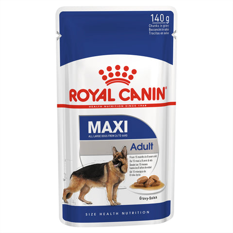 Royal Canin Dog - Royal Canin MAXI ADULT GRAVY POUCHES - Wet food