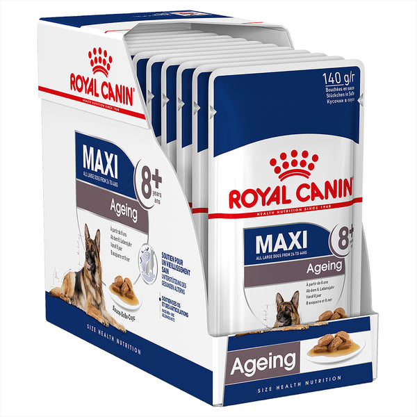 Royal Canin Dog - Royal Canin MAXI AGEING 8+ YEARS GRAVY POUCHES - Wet food