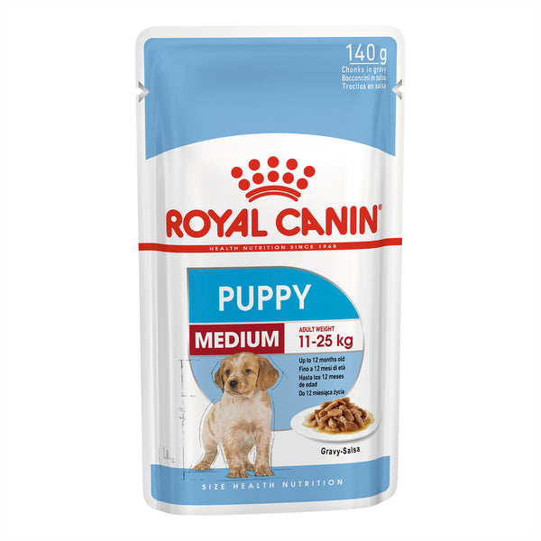 Royal Canin Dog - Royal Canin MEDIUM PUPPY GRAVY POUCHES - Wet food