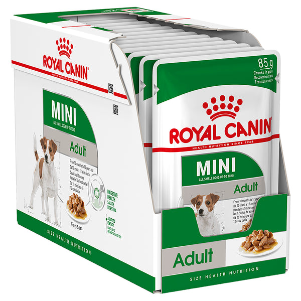 Royal Canin Dog - Royal Canin MINI ADULT GRAVY POUCHES - Wet food