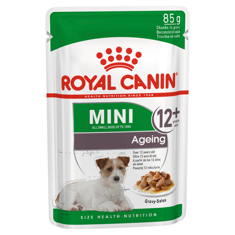 Royal Canin Dog - Royal Canin MINI AGEING 12+ GRAVY POUCHES - Wet food