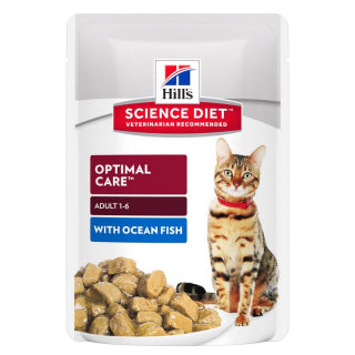 Science Diet Cat - Adult Ocean Fish Tender Chunks in Gravy Pouches
