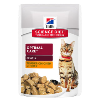 Science Diet Cat - Adult Chicken Tender Chunks in Gravy Pouches