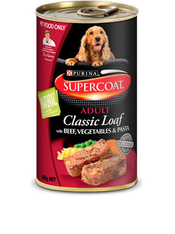 Supercoat Dog - Loaf Beef Veg & Pasta Cans
