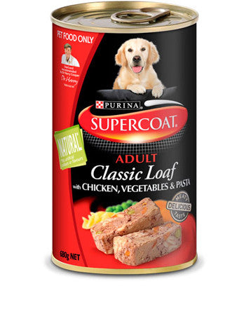 Supercoat Dog - Loaf Chicken Veg & Pasta Cans
