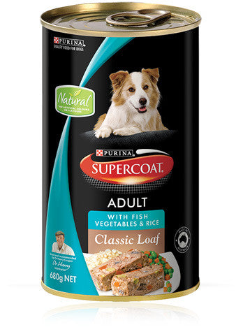 Supercoat Dog - Loaf Fish Veg & Rice Cans