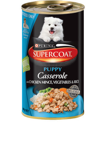 Supercoat Dog - Casserole Puppy Chicken & Rice Cans