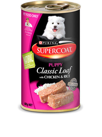 Supercoat Dog - Puppy Loaf Chicken & Rice Cans