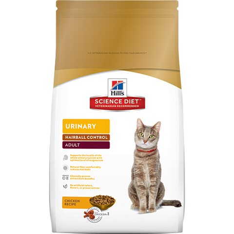 Science Diet Cat - Urinary Hairball Control, Adult