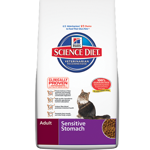 Science Diet Cat -  Feline Sensitive Stomach, 1-6 years