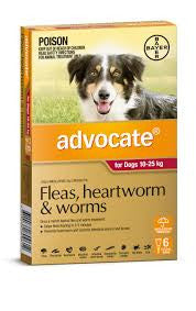Advocate Dog - Advocate Large Dog (Red) 10-25Kg