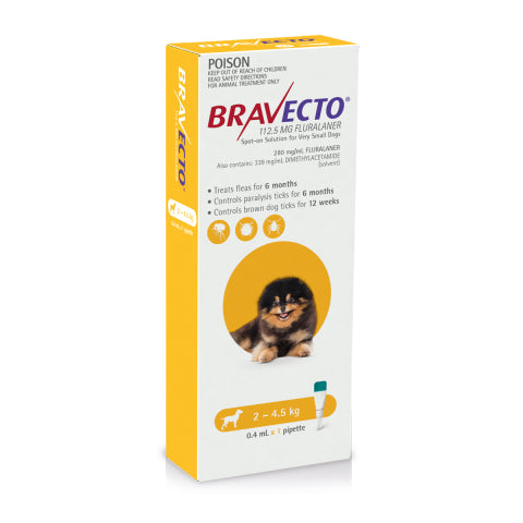 Bravecto Dog - BRAVECTO DOG SPOT ON 2-4.5KG 1PK