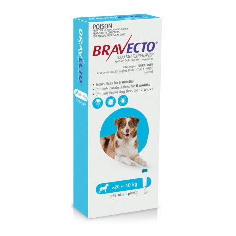 Bravecto Dog - BRAVECTO DOG SPOT ON 20-40KG 1PK