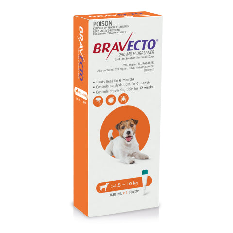 Bravecto Dog - BRAVECTO DOG SPOT ON 4.5-10KG 1PK
