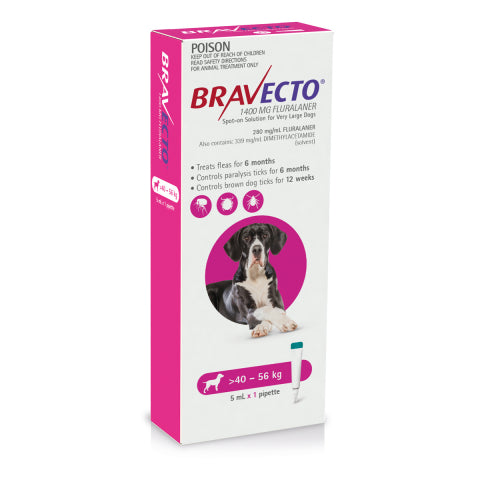 Bravecto Dog - BRAVECTO DOG SPOT ON 40-56KG 1PK