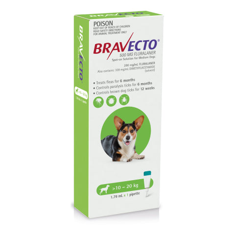 Bravecto Dog - BRAVECTO DOG SPOT ON 10-20KG 1PK