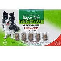 Drontal Dog - Drontal Dog Allwormer Chewable 10Kg - Medium Breed Dogs