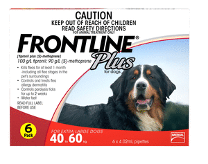 Frontline Plus Dog - Frontline Plus Extra Large Dog (Red) 40-60Kg