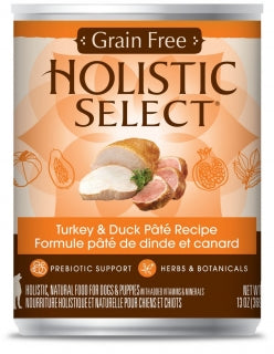 Holistic Select Dog - GRAIN FREE Turkey & Duck Pate Recipe