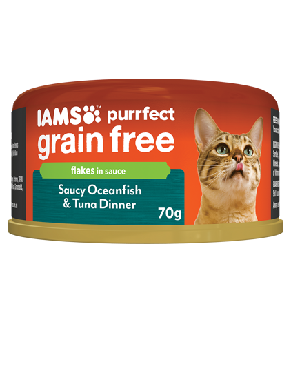 IAMS Cat -  Adult Purrfect GrainFree Cans, Saucy OceanFish with Tuna