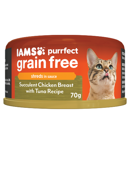 IAMS Cat -  Adult Purrfect GrainFree Cans, Succulent Chicken Breast with Tuna