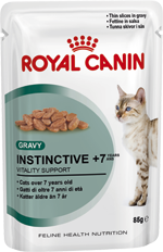 Royal Canin Cat - Royal Canin INSTINCTIVE +7 IN GRAVY  (pouches)