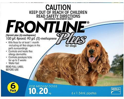 Frontline Plus Dog - Frontline Plus Medium Dog (Blue) 10-20Kg