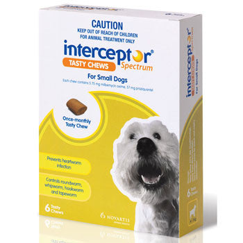 Interceptor Dog - Interceptor Small Dog Chews (Green) 4-11Kg