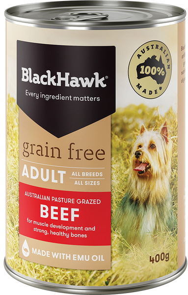 BlackHawk Dog - Grain Free Adult Wet Food Beef