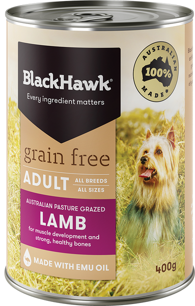 BlackHawk Dog - Grain Free Adult Wet Food Lamb