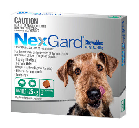 Nexgard Dog - Nexgard Chews Large Dogs 10-25kg (GREEN)