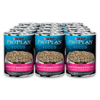 Proplan Dog - Sensitive Skin & Stomach Salmon & Rice Cans