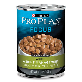 Proplan Dog - Weight Management Turkey & Rice Cans