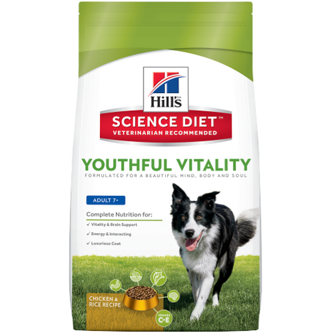 Science Diet Dog -  Youthful Vitality Adult 7+ Chicken & Rice Recipe