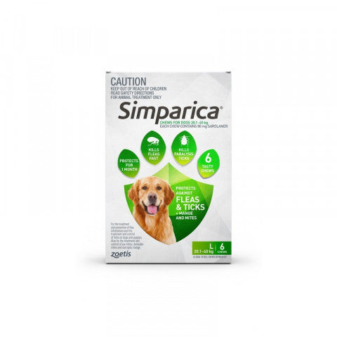 Simparica Dog - Simparica Large Dog 20.1-40kg