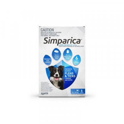 Simparica Dog - Simparica Medium Dog 10.1-20kg