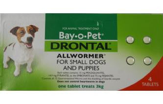 Drontal Dog - Drontal Dog Allwormer Tablets 3Kg - Small Dogs & Puppies