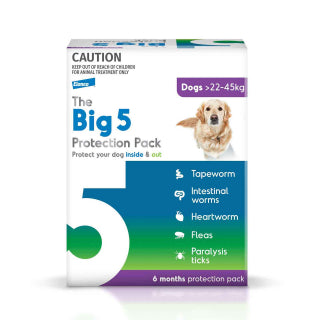 The Big 5 Protection Pack - 22-45kg 6 month supply